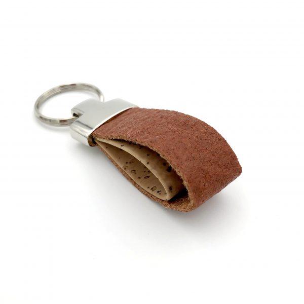 Pumskin - porte clés vegan - porteclés vegan - porteclefs vegan - porte clefs vegan - maroquinerie vegan - cadeau vegan -bois tissé - woodleather - maroquinerie vegan - maroquinerie vegane -