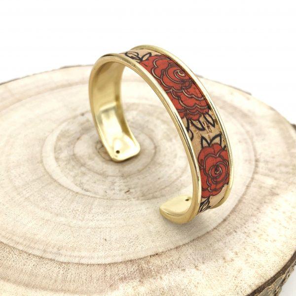 bracelet vegan - manchette vegan - bracelet manchette vegan - bijou vegan - bracelet ecoresponsable - bracelet ethique - bracelet responsable - bracelet liege - bracelet pinatex - pumskin - mode responsable - mode éthique