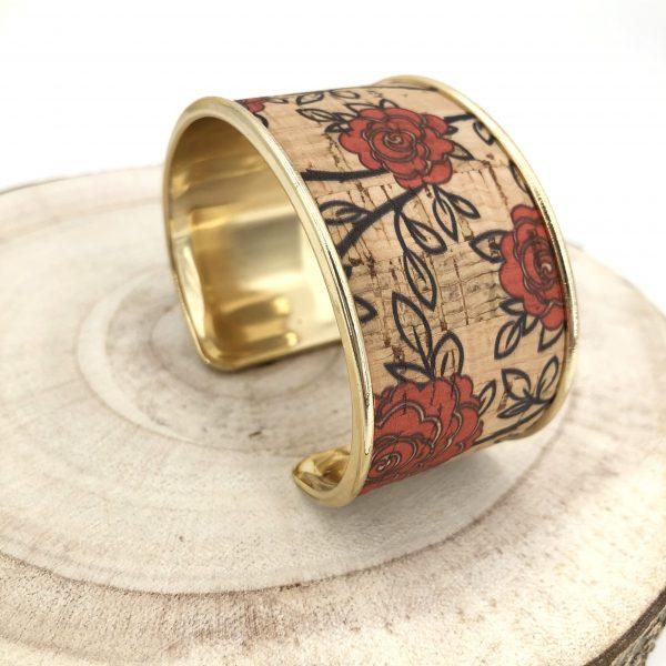 bracelet vegan - manchette vegan - bracelet manchette vegan - bijou vegan - bracelet ecoresponsable - bracelet responsable - bracelet liege - bracelet pinatex - pumskin - bijoux vegan - cuir de cactus - cuir vegan - pumskin