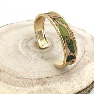 bracelet vegan - manchette vegan - bracelet manchette vegan - bijou vegan - bracelet ecoresponsable - bracelet responsable - bracelet liege - bracelet pinatex - bijoux vegan - cuir de cactus - cuir vegan - pumskin