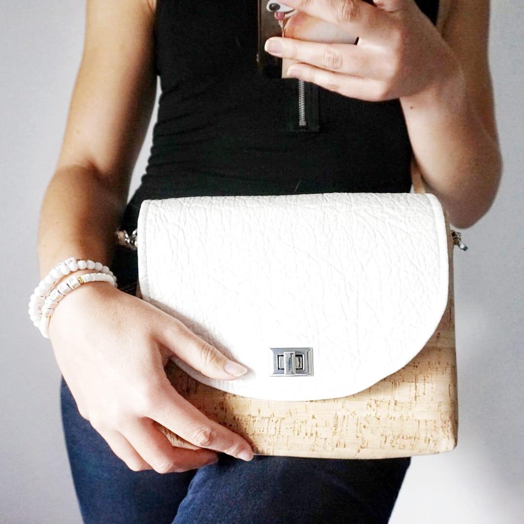 Pumskin - Sac à rabats interchangeables - sac rabat - sac vegan - sac responsable - sac cuir vegan - cuir de liège - sac vegan rabat - sac rabats interchangeables - sac en liège femme - sac vegan français - mode durable -