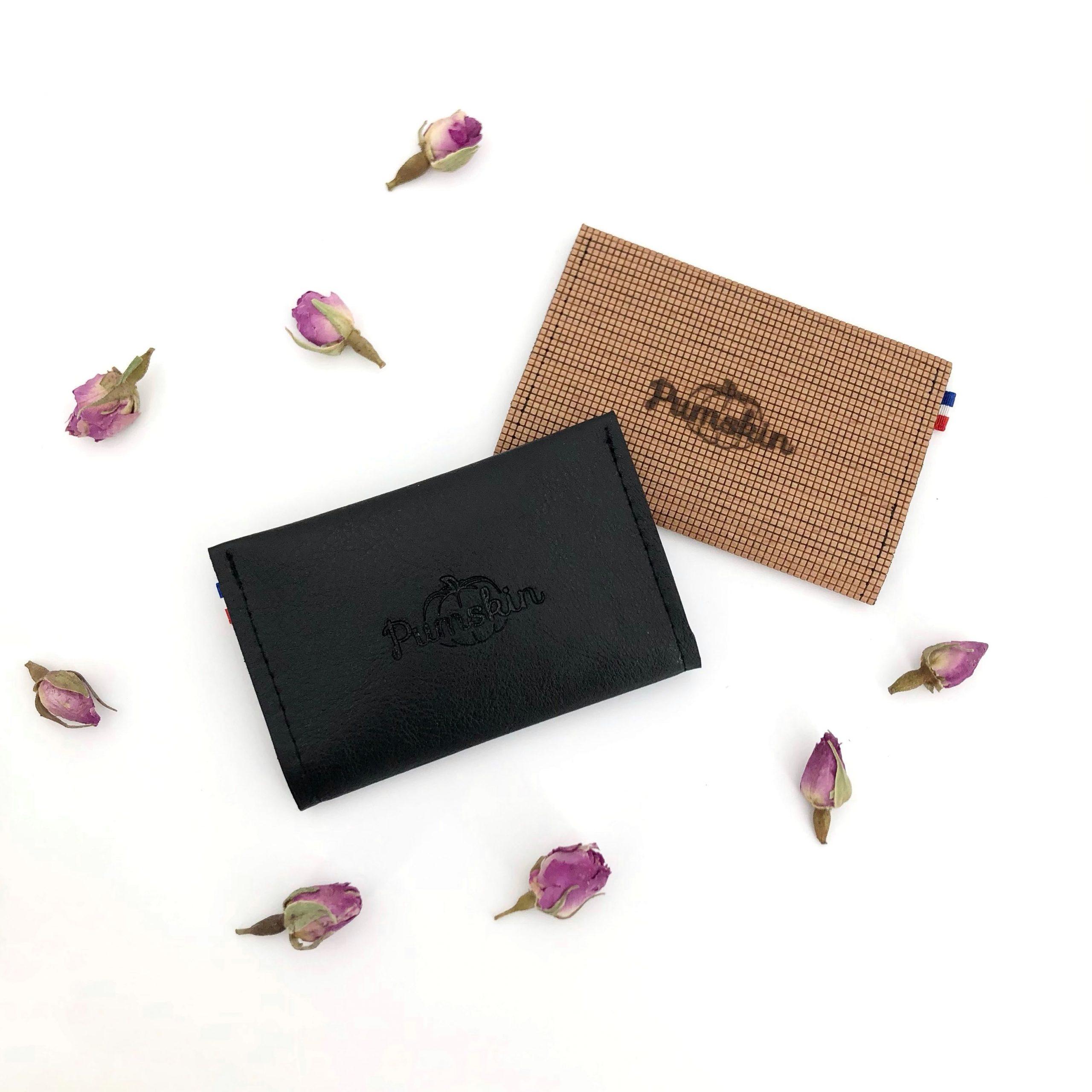 Pumskin - porte cartes bois - porte cartes vegan - porte cartes cuir vegan - maroquinerie végane - maroquinerie vegan - cuir de raisin - cuir de bois - cuir vegan homme - cuir vegan unisexe - cadeau vegan (8)